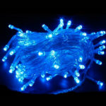Новогодняя гирлянда RGB 160 LED, 8 м (синяя)