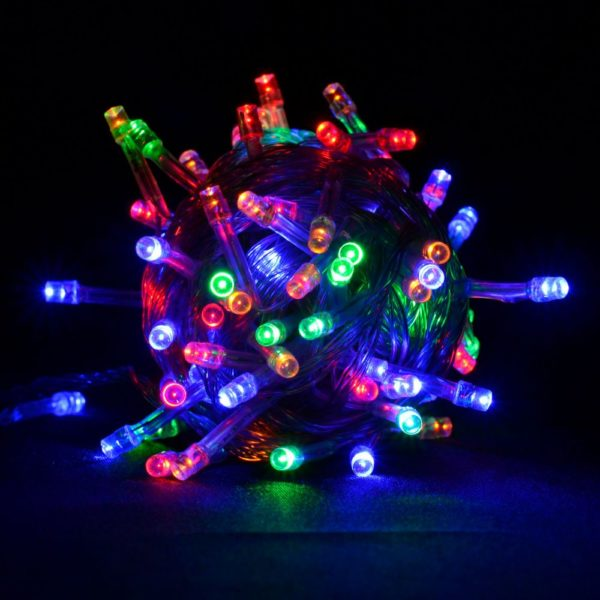 Гирлянда RGB 300 LED черный провод, контроллер