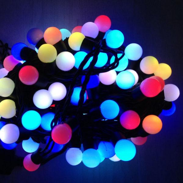 Гирлянда «Шарики» RGB 100 LED