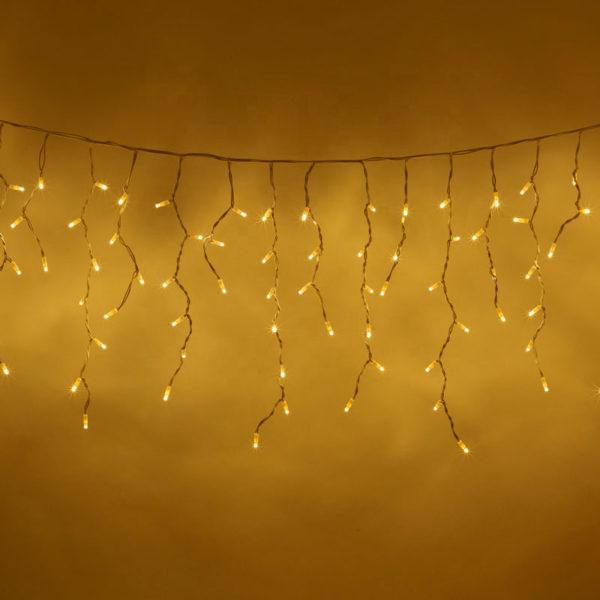 Гирлянда «Бахрома» 100 LED белая теплая