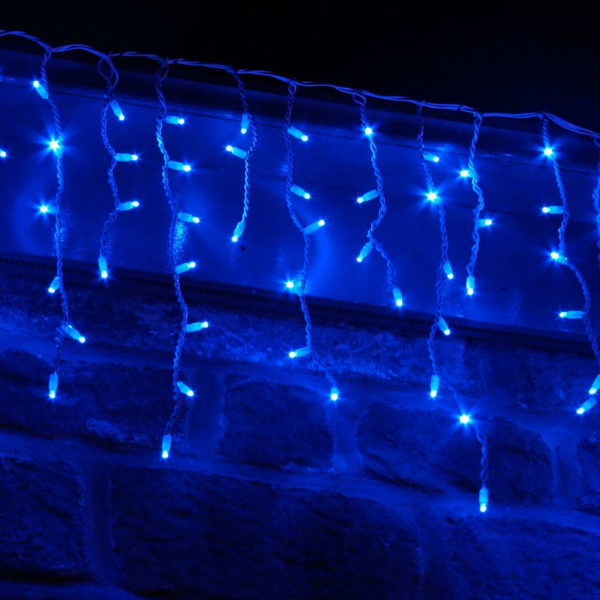 Гирлянда «Бахрома» 100 LED синяя