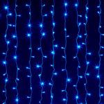 Гирлянда «Штора» 240 LED синяя