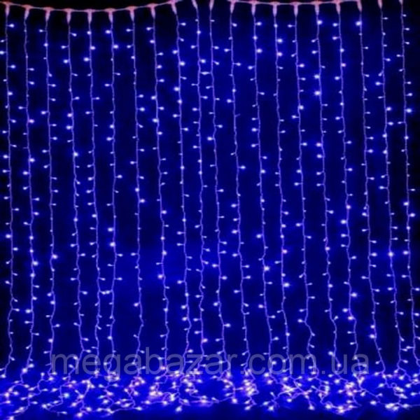 Уличная гирлянда «Штора» 832 LED синяя, контролер