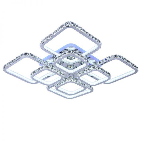 Люстра светодиодная 8010/4+4 CHR (BL+YL)