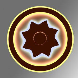 Люстра 2218/500 WH+CF с пультом управления