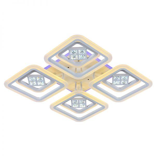 Люстра светодиодная 18024/4+4D WHT